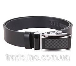 Мужской кожаный ремень Dovhani ALD666-299 115-125 см Черный, фото 3