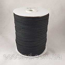 Бельевая резинка 8 мм цвет черный 100 м (улучшенное качество)