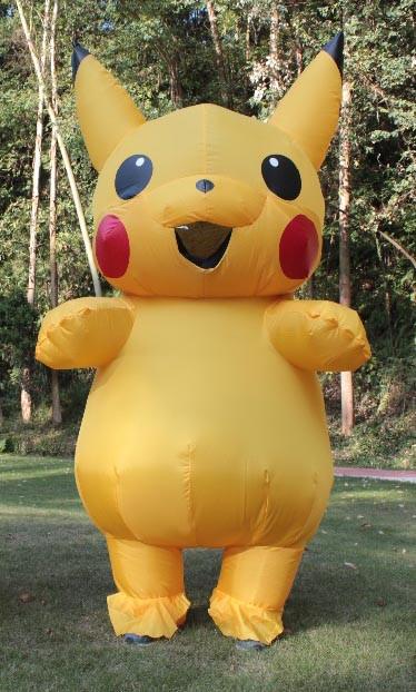 Надувной костюм Пикачу для взрослого Pikachu