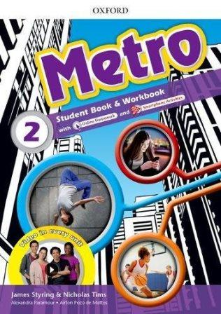 Metro 2 Student's Book and Workbook Pack with Online Homework