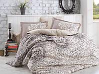 Евро размер. Бежевый комплект постельного белья. Ткань: поплин. Фирменный магазин Hobby в Одессе.  Р.60
