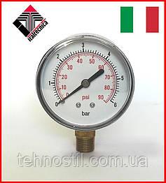 Манометр для насосной станции (радиальный) 0-6 бар