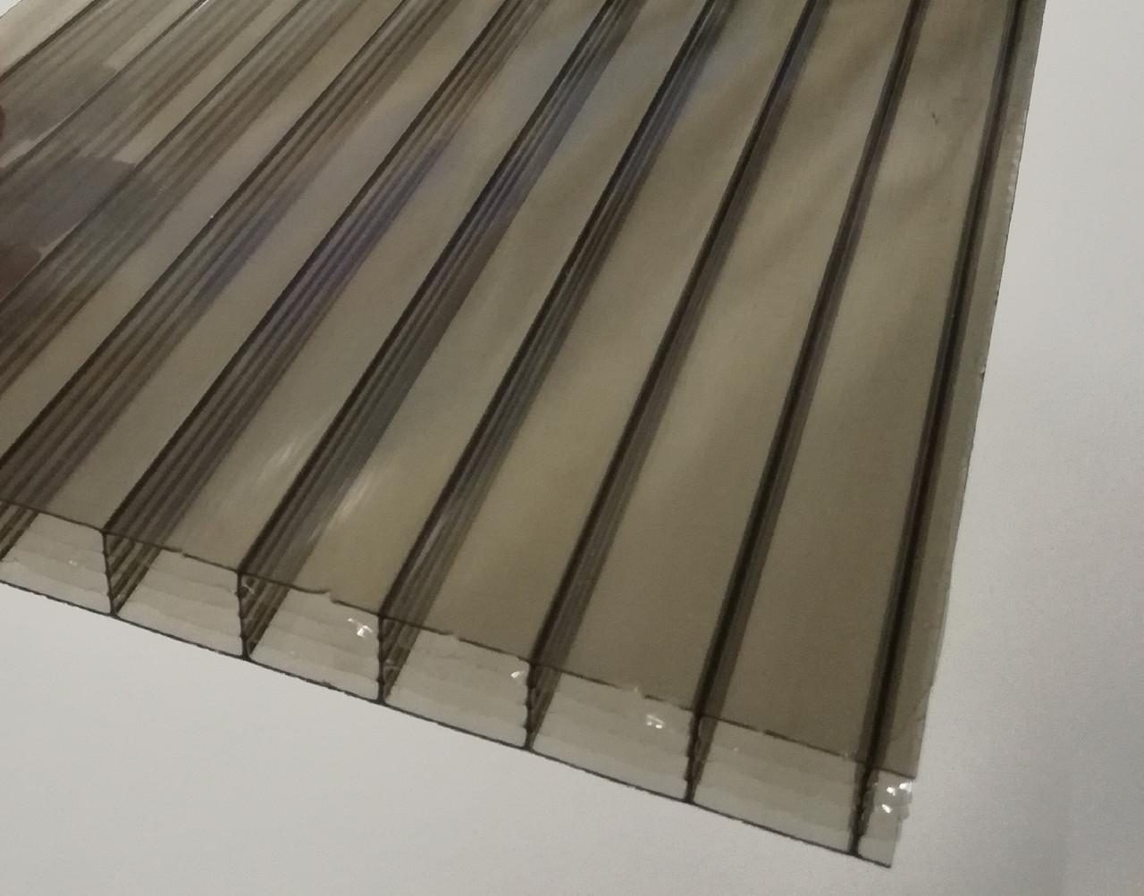 Поликарбонат сотовый CARBOGLASS Crystal 16 мм бронзовый, фото 1