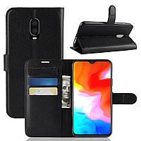 Чехол-книжка Litchie Wallet для OnePlus 6T Черный