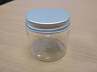 Баночка 50 мл с алюминиевой крышкой прозрачная, фото 1