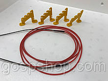 Тепловой шнур (нагреватель) для инкубатора 12 Вольт с креплениями