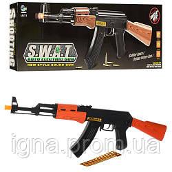 Автомат AK 47-1 (72шт) 63см,пули,шнурок, звук, свет,на бат-ке, в кор-ке, 47-15-4,5см