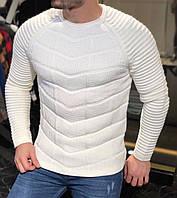Мужской свитер белый MK301