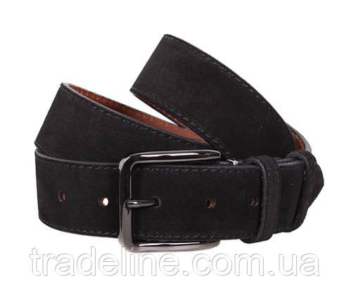 Мужской замшевый ремень Dovhani Z63-44 115-125 см Черный, фото 2