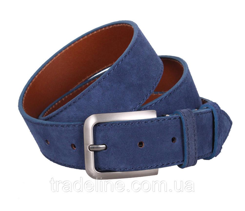Мужской замшевый ремень Dovhani Z63-99 115-125 см Синий