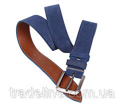 Мужской замшевый ремень Dovhani Z63-99 115-125 см Синий, фото 2