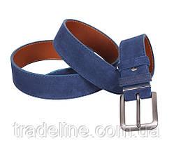 Мужской замшевый ремень Dovhani Z63-99 115-125 см Синий, фото 3