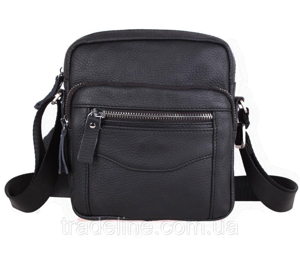 Мужская кожаная сумка Dovhani Dov-301666 Черная
