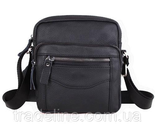 Мужская кожаная сумка Dovhani Dov-301666 Черная, фото 2