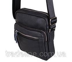 Мужская кожаная сумка Dovhani Dov-301666 Черная, фото 3