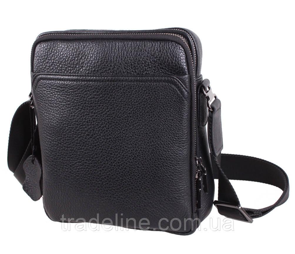 Чоловіча шкіряна сумка Dovhani DL411-41 Чорна