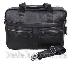 Мужская кожаная сумка Dovhani Dov-1120-175 Черная, фото 3
