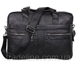 Мужская кожаная сумка Dovhani Dov-1120-175 Черная, фото 2