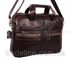 Мужская кожаная сумка Dovhani Dov-1120-286 Коричневая, фото 3
