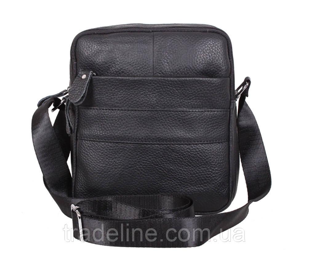 Мужская кожаная сумка Dovhani Dov-3921-18 Черная