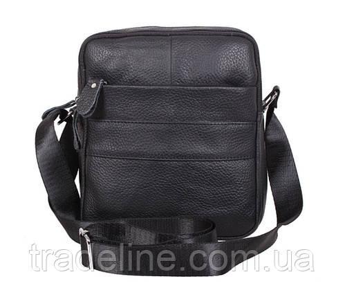 Мужская кожаная сумка Dovhani Dov-3921-18 Черная, фото 2