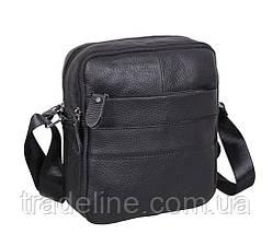 Мужская кожаная сумка Dovhani Dov-3921-18 Черная, фото 3