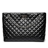 Женская стеганая сумка на металлической цепочке, черная, опт, фото 1