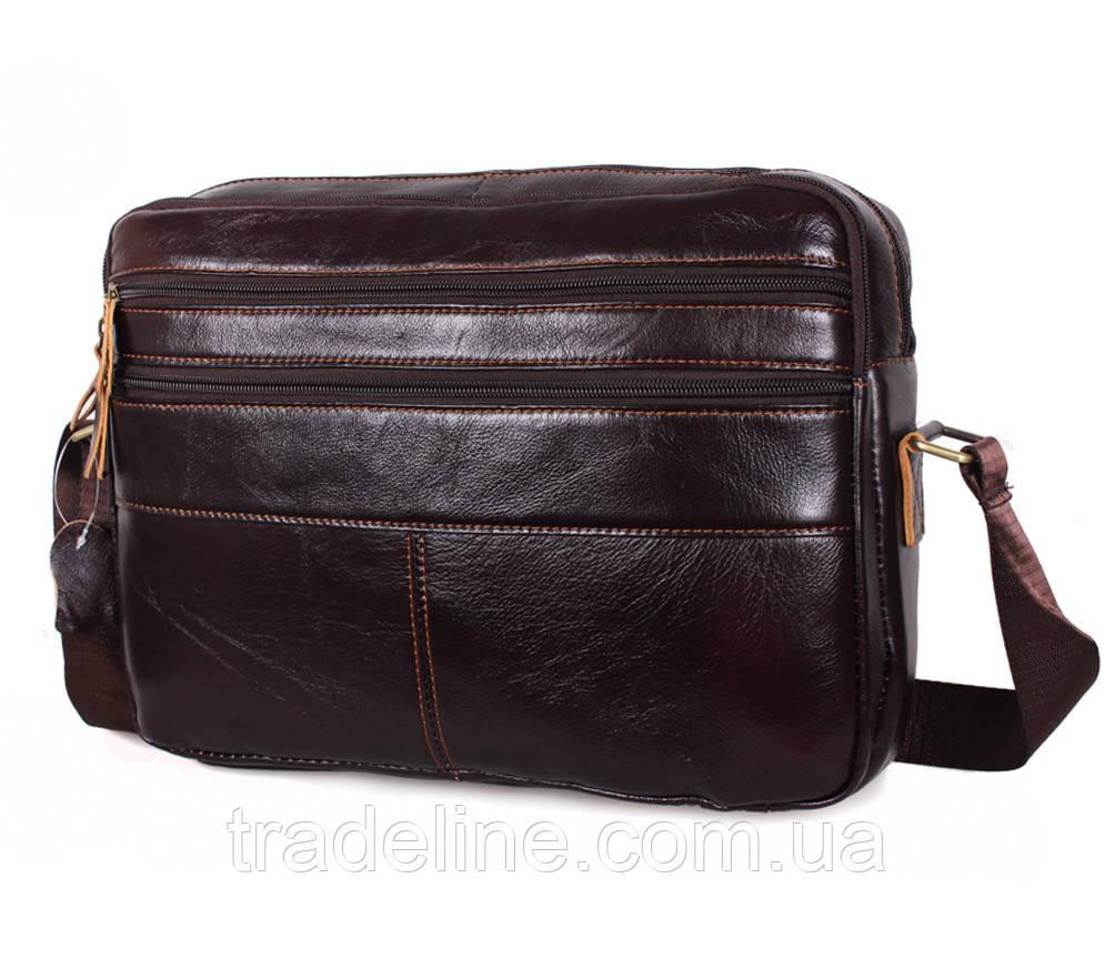 Мужская кожаная сумка A4 Dovhani Bon3923-2541 Ш36хВ25хГ10см Коричневая
