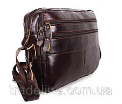 Мужская кожаная сумка A4 Dovhani Bon3923-2541 Ш36хВ25хГ10см Коричневая, фото 2
