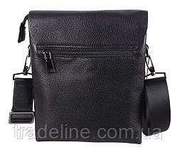 Мужская кожаная сумка Dovhani DL5129-468 Черная, фото 2