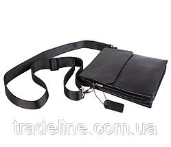 Мужская кожаная сумка Dovhani DL5129-468 Черная, фото 3