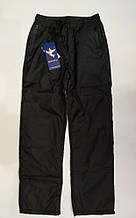 Штани на хлопчика з плащової тканини на флісі арт 75751 чорні 134-152 підліткові MARKIATO.