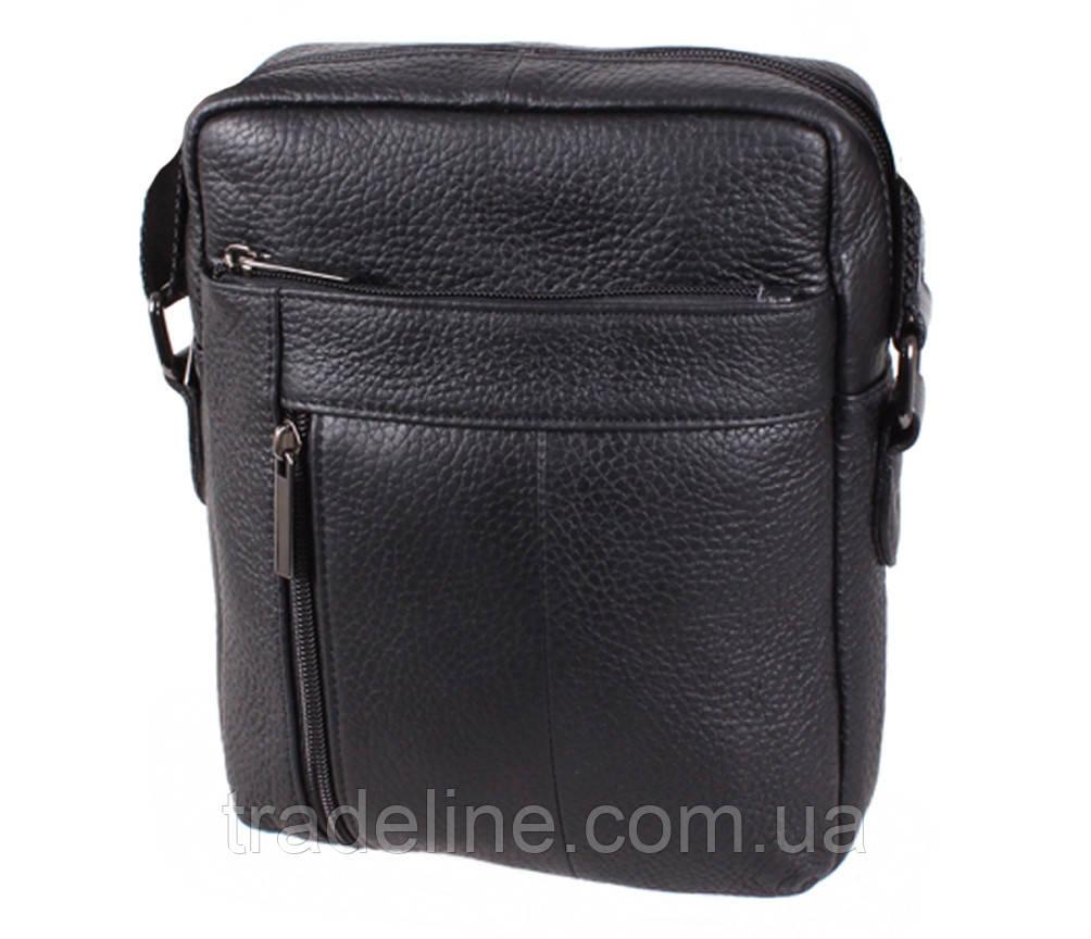 Мужская кожаная сумка Dovhani BL919595 Черная