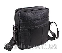 Мужская кожаная сумка Dovhani BL919595 Черная, фото 2
