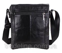 Мужская кожаная сумка Dovhani BL3803238 Черная, фото 2