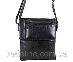 Мужская кожаная сумка Dovhani BL3803238 Черная, фото 3