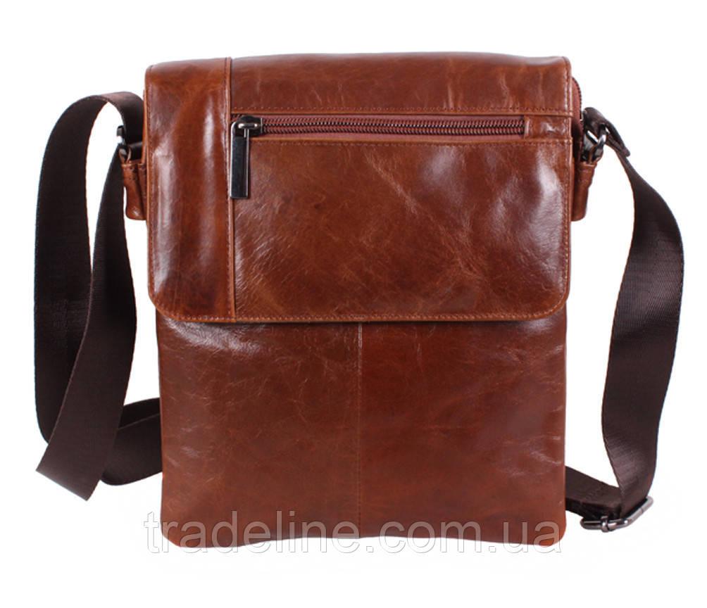 Мужская кожаная сумка Dovhani RB38032032 Коричневая
