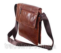 Мужская кожаная сумка Dovhani RB38032032 Коричневая, фото 3
