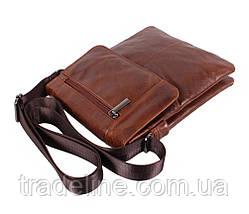 Мужская кожаная сумка Dovhani RB38032032 Коричневая, фото 2
