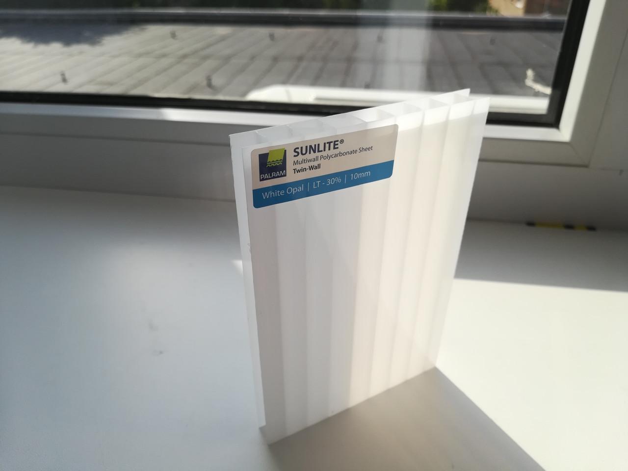 Поликарбонат сотовый SUNLITE Twin-Wall 6 mm White Opal