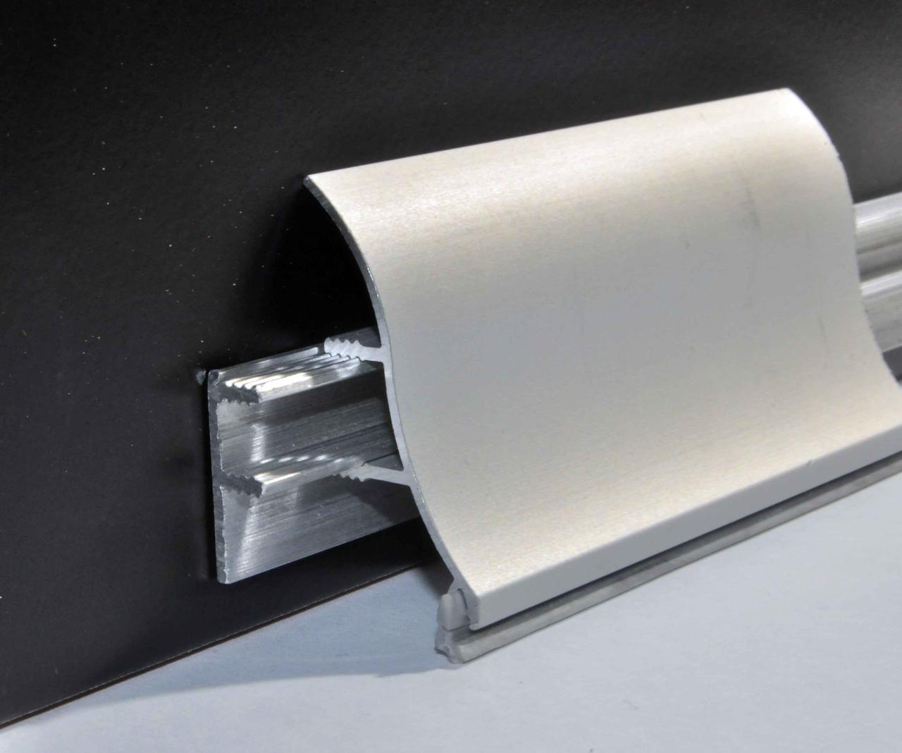 Плинтус алюминиевый Braz Line вогнутый анодированный 35х3000 мм BL3002.30