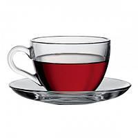 Набор Basic чашка с блюдцем 200мл. 1/6 шт. Рasabahce 97948