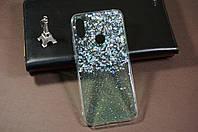 Чехол бампер силиконовый для Xiaomi Redmi Note 7 Ксиоми Сяоми Ноут Ноте Glitter с блестками рисунок