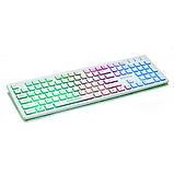 Клавиатура REAL-EL Comfort 7070 Backlit USB белая с подсветкой уценка, фото 2