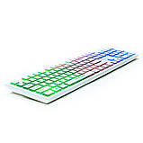 Клавиатура REAL-EL Comfort 7070 Backlit USB белая с подсветкой уценка, фото 4