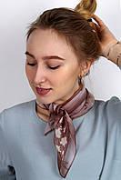 Платок La Feny Шейный платок (косынка) Саванна коричневый 50*50 (A 182)