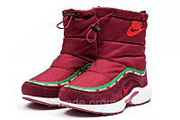 Женские зимние сапоги Nike Apparel, бордовые