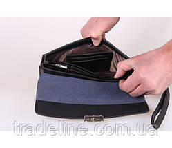 Клатч мужской кожаный Norton 3071919 Синий, фото 3