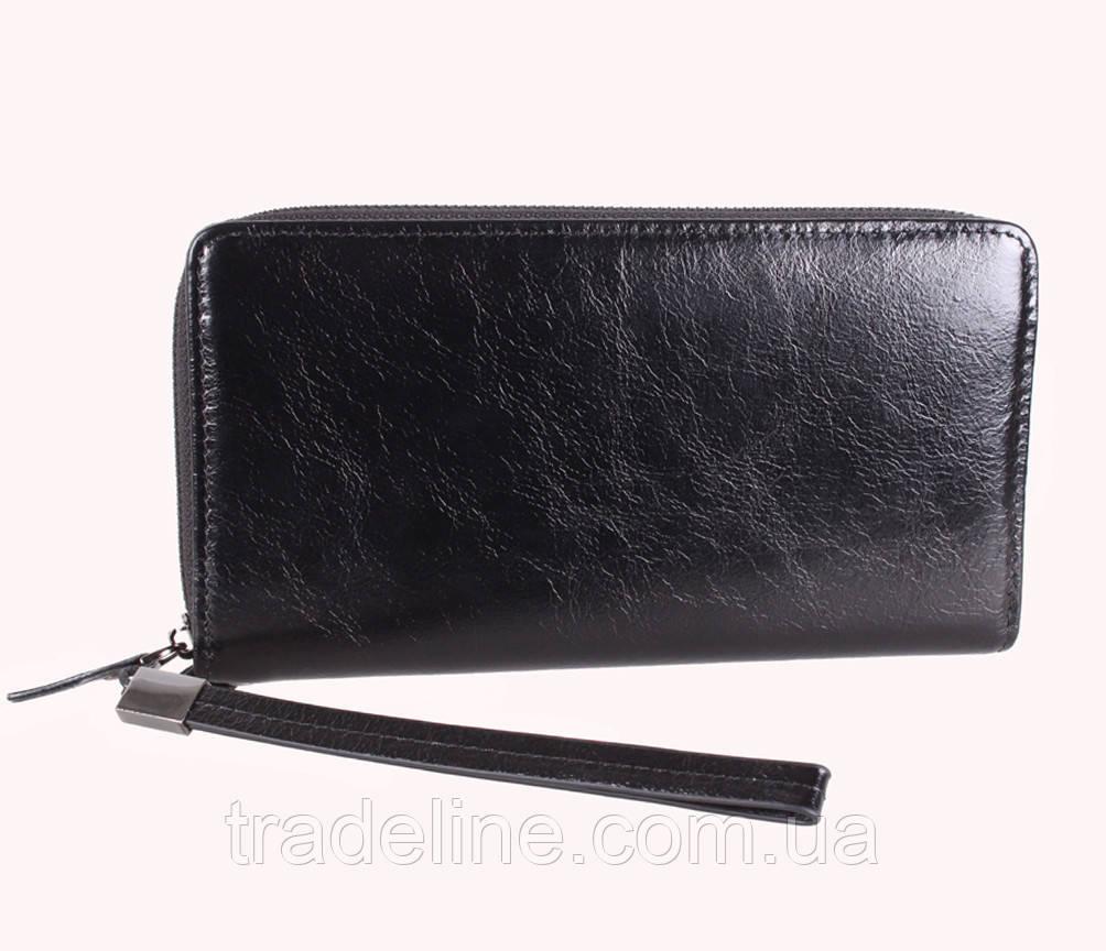 Клатч мужской кожаный Dovhani BLACK001-18 Черный