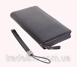 Клатч мужской кожаный Dovhani BLACK001-18 Черный, фото 3